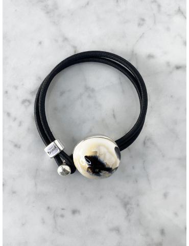 Bracelet Bulle Gevole Noir...