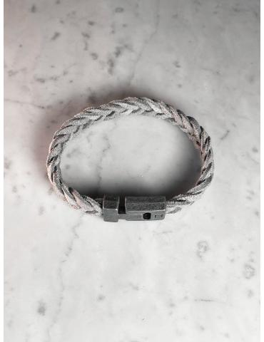 Bracelet Cuir Gris Gemini