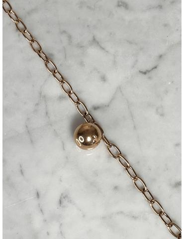 Bracelet Acier Doré Rose Boule