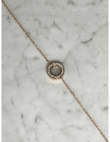 Bracelet Acier Doré Rose...
