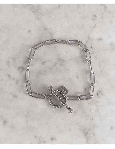 Bracelet Acier Cercle Torsadé